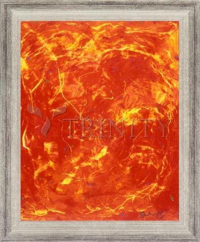 Wall Frame Silver Flat - Flames of Love by B. Gilroy
