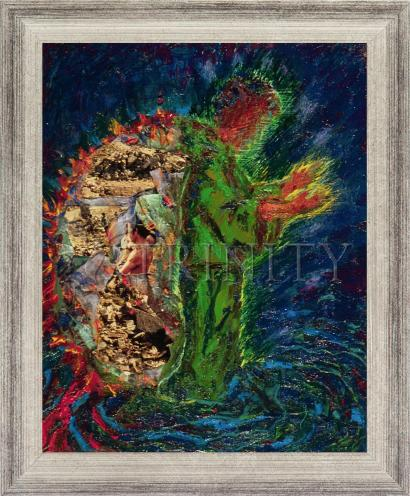 Wall Frame Silver Flat - In The Wilderness by B. Gilroy