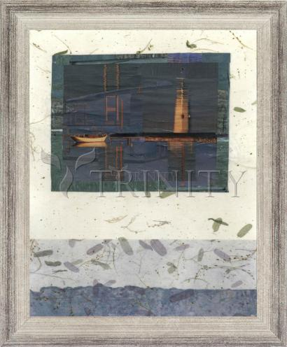 Wall Frame Silver Flat - Water Reflections by B. Gilroy