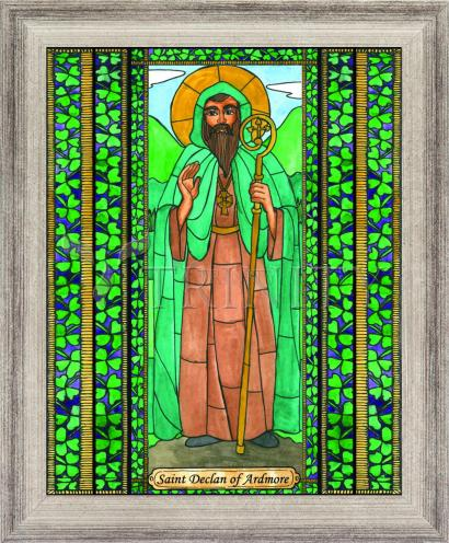 Wall Frame Silver Flat - St. Declan of Ardmore by B. Nippert