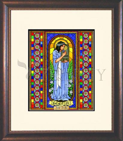 Wall Frame Double Mat Gold - St. Cecilia by B. Nippert