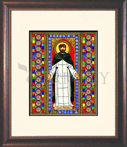 Wall Frame Double Mat Gold - St. Dominic by B. Nippert