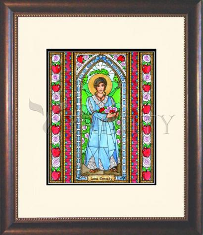 Wall Frame Double Mat Gold - St. Dorothy by B. Nippert