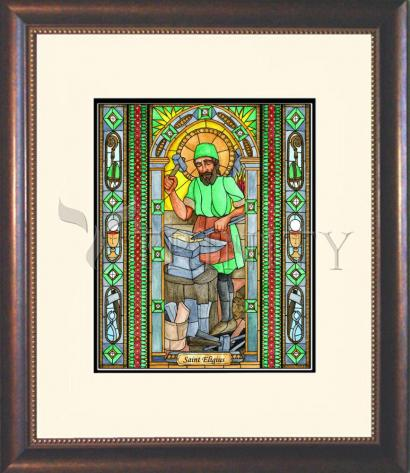 Wall Frame Double Mat Gold - St. Eligius by B. Nippert