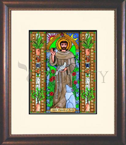 Wall Frame Double Mat Gold - St. Francis of Assisi by B. Nippert