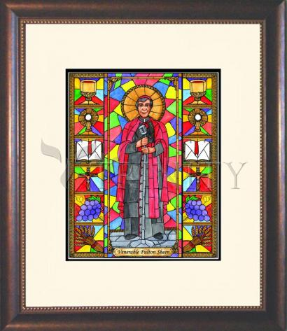 Wall Frame Double Mat Gold - Ven. Fulton Sheen by B. Nippert