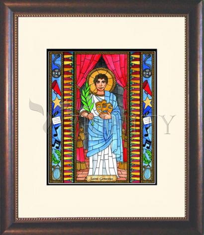 Wall Frame Double Mat Gold - St. Genesius by B. Nippert