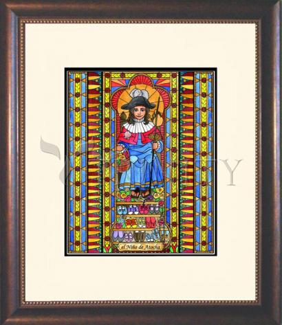 Wall Frame Double Mat Gold - Holy Child of Atocha by B. Nippert