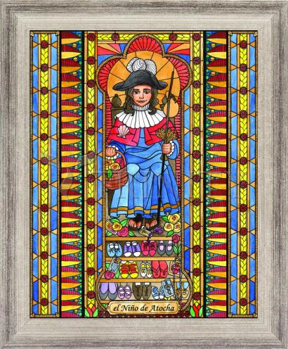 Wall Frame Silver Flat - Holy Child of Atocha by B. Nippert