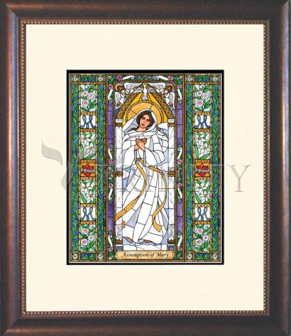 Wall Frame Double Mat Gold - Assumption of Mary by B. Nippert