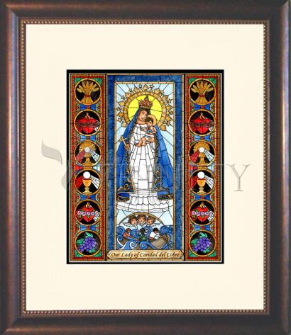Wall Frame Double Mat Gold - Our Lady of Caridad del Cobra by B. Nippert