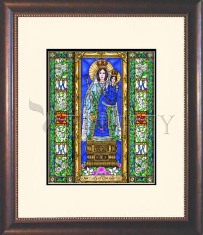 Wall Frame Double Mat Gold - Our Lady of Consolation by B. Nippert