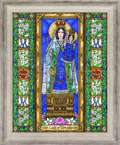 Wall Frame Silver Flat - Our Lady of Consolation by B. Nippert