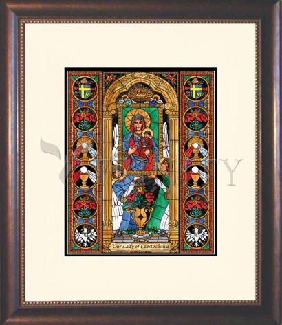 Wall Frame Double Mat Gold - Our Lady of Czestochowa by B. Nippert