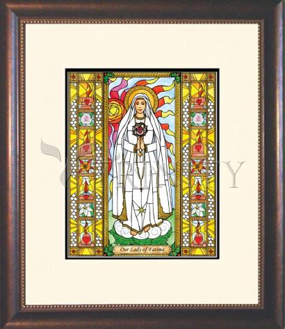 Wall Frame Double Mat Gold - Our Lady of Fatima by B. Nippert