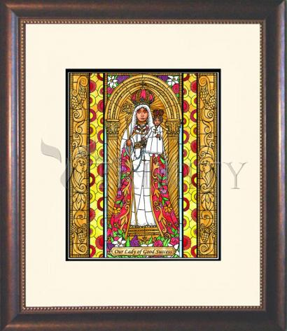 Wall Frame Double Mat Gold - Our Lady of Good Success by B. Nippert