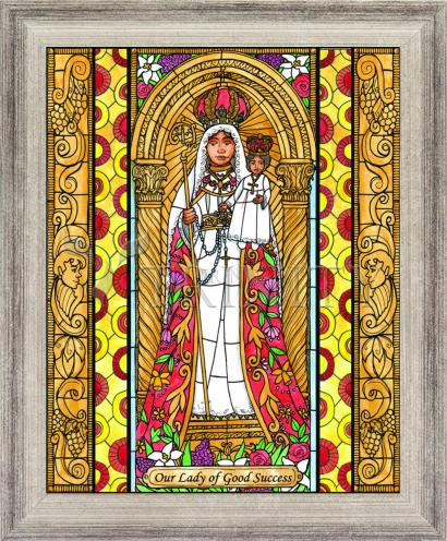 Wall Frame Silver Flat - Our Lady of Good Success by B. Nippert