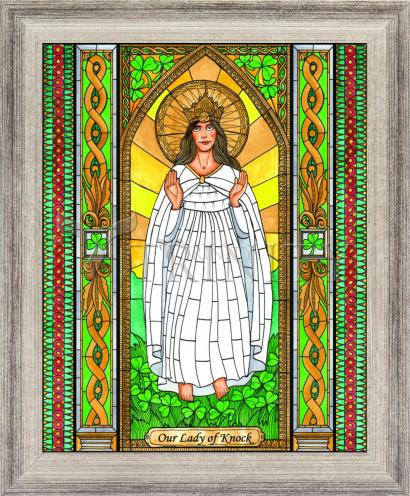 Wall Frame Silver Flat - Our Lady of Knock by B. Nippert