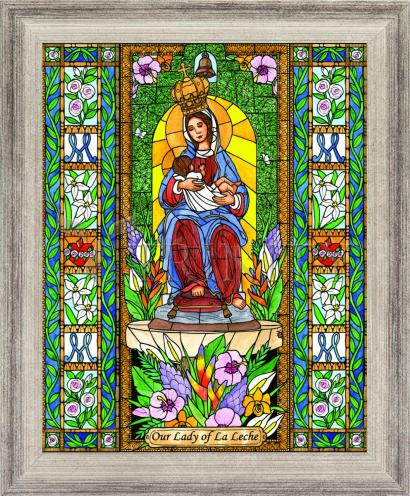 Wall Frame Silver Flat - Our Lady of the Milk by B. Nippert