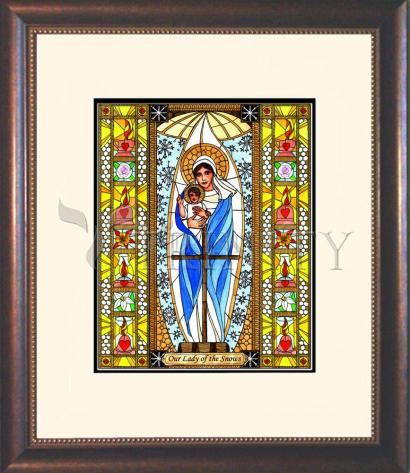 Wall Frame Double Mat Gold - Our Lady of the Snows by B. Nippert