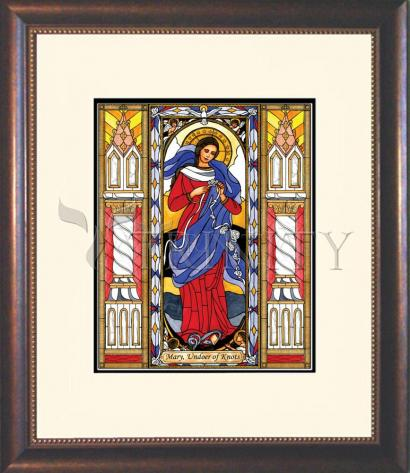 Wall Frame Double Mat Gold - Mary, Undoer of Knots by B. Nippert