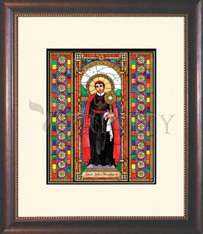 Wall Frame Double Mat Gold - St. John Neumann by B. Nippert