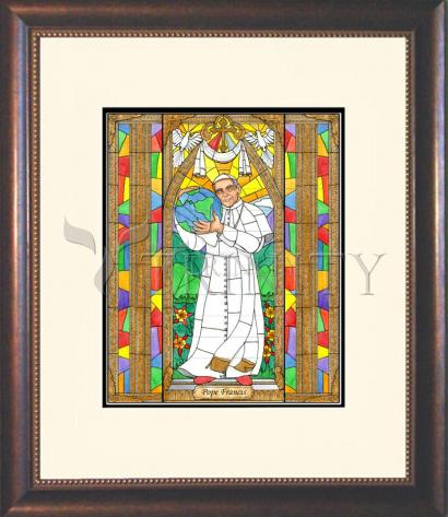 Wall Frame Double Mat Gold - Pope Francis by B. Nippert