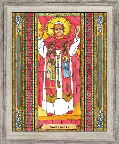 Wall Frame Silver Flat - St. Paul VI by B. Nippert
