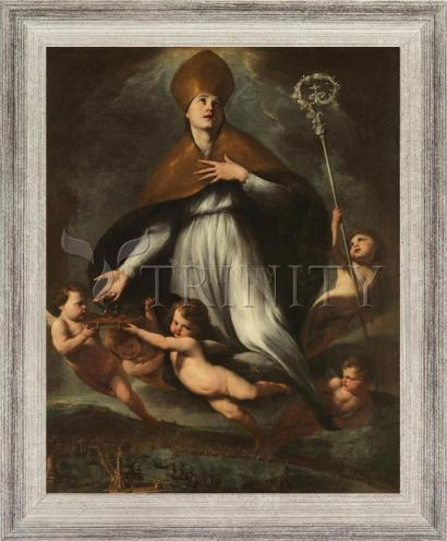 Wall Frame Silver Flat - Ascension of St. Gennaro by Museum Art