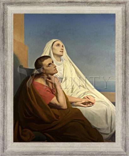Wall Frame Silver Flat - Sts. Augustine and Monica by Museum Art
