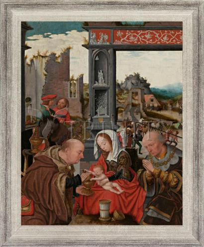 Wall Frame Silver Flat - Adoration of the Magi by Museum Art