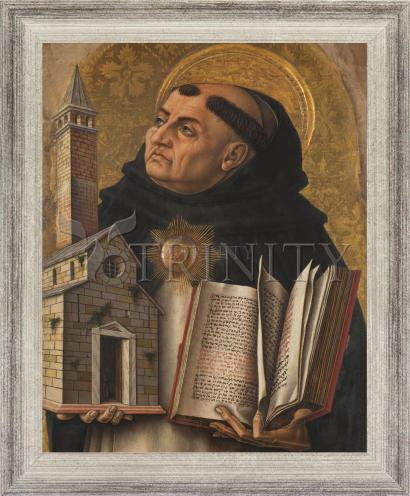 Wall Frame Silver Flat - St. Thomas Aquinas by Museum Art