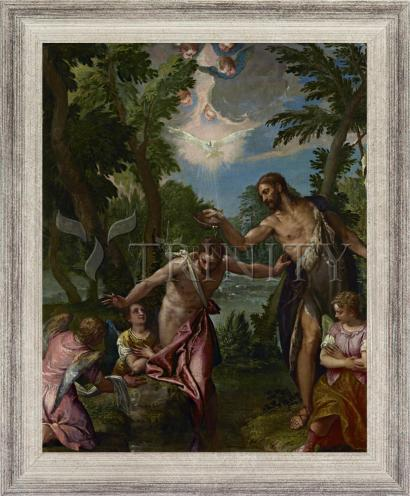 Wall Frame Silver Flat - Baptism of Christ by Museum Art