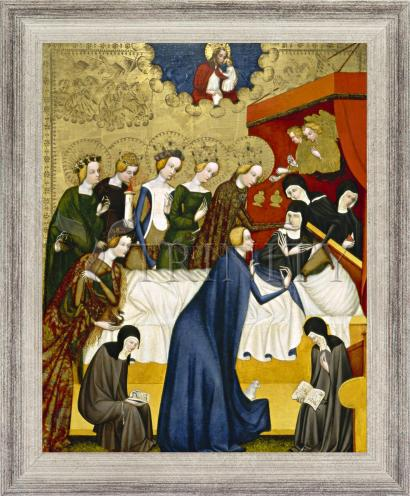 Wall Frame Silver Flat - Death of St. Clare of Assisi by Museum Art