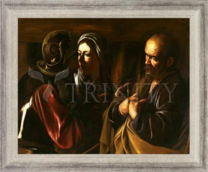 Wall Frame Silver Flat - Denial of St. Peter by Museum Art
