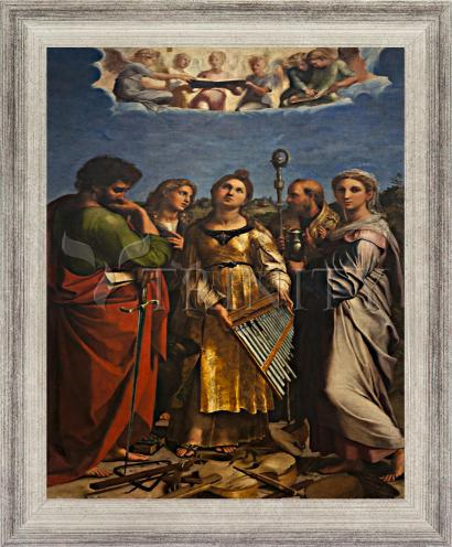 Wall Frame Silver Flat - Ecstasy of St. Cecilia by Museum Art