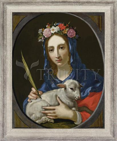 Wall Frame Silver Flat - St. Agnes by Museum Art