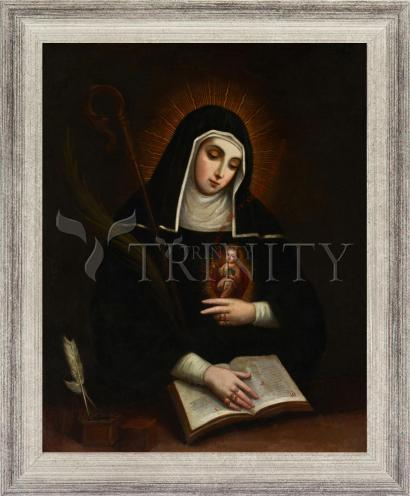 Wall Frame Silver Flat - St. Gertrude by Museum Art