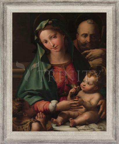 Wall Frame Silver Flat - Holy Family with Infant St. John the Baptist by Museum Art