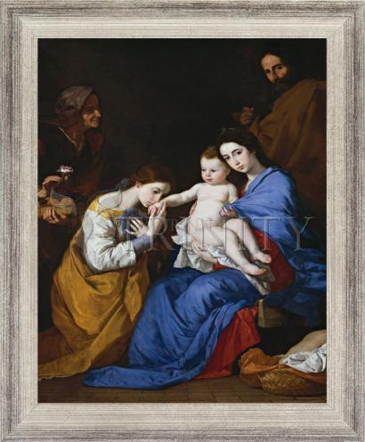 Wall Frame Silver Flat - Holy Family with Sts. Anne and Catherine of Alexandria by Museum Art