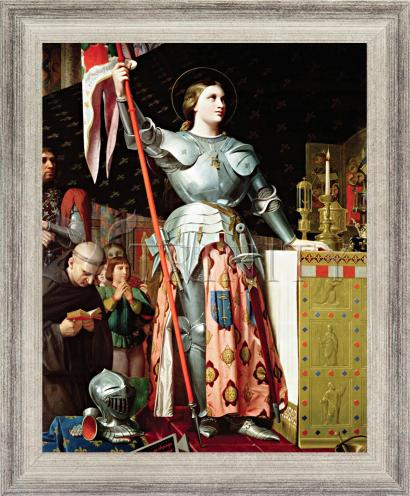 Wall Frame Silver Flat - St. Joan of Arc at Coronation of Charles VII by Museum Art