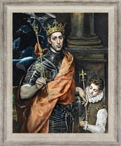 Wall Frame Silver Flat - St. Louis, King of France by Museum Art