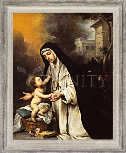 Wall Frame Silver Flat - St. Rose of Lima by Museum Art