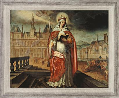 Wall Frame Silver Flat - St. Genevieve by Museum Art