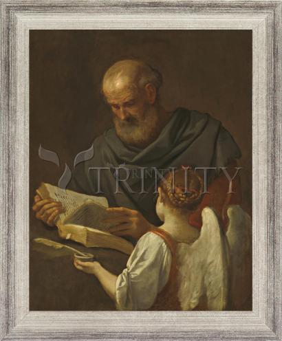 Wall Frame Silver Flat - St. Matthew and Angel by Museum Art