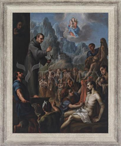 Wall Frame Silver Flat - Miracles of St. Salvador de Horta by Museum Art