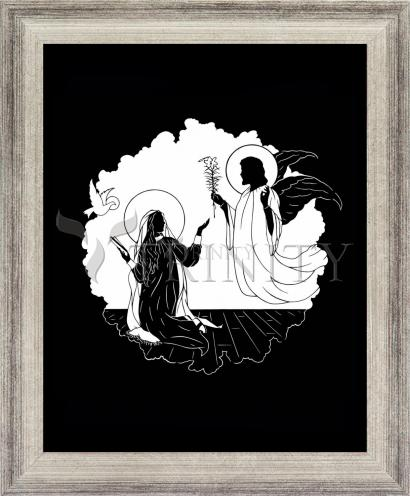 Wall Frame Silver Flat - Annunciation by D. Paulos