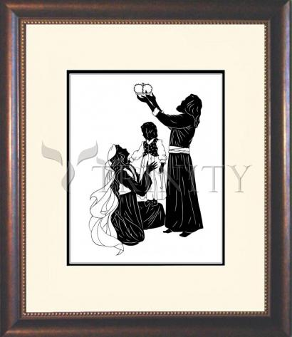 Wall Frame Double Mat Gold - Behold Thy King by D. Paulos