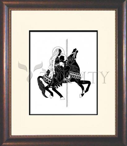 Wall Frame Double Mat Gold - Carousel Madonna by D. Paulos