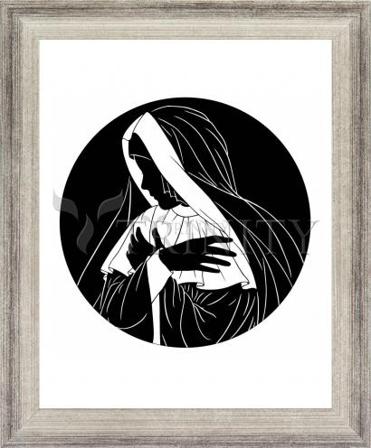 Wall Frame Silver Flat - Mater Dolorosa by D. Paulos